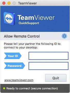 Team Viewer Screenshot